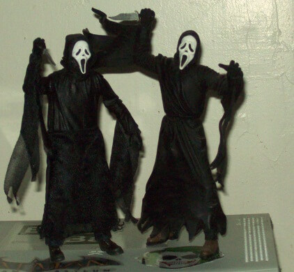 Ghostface by NECA and Ghostface by McFarlane Comparison