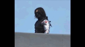 winter soldier arm on set